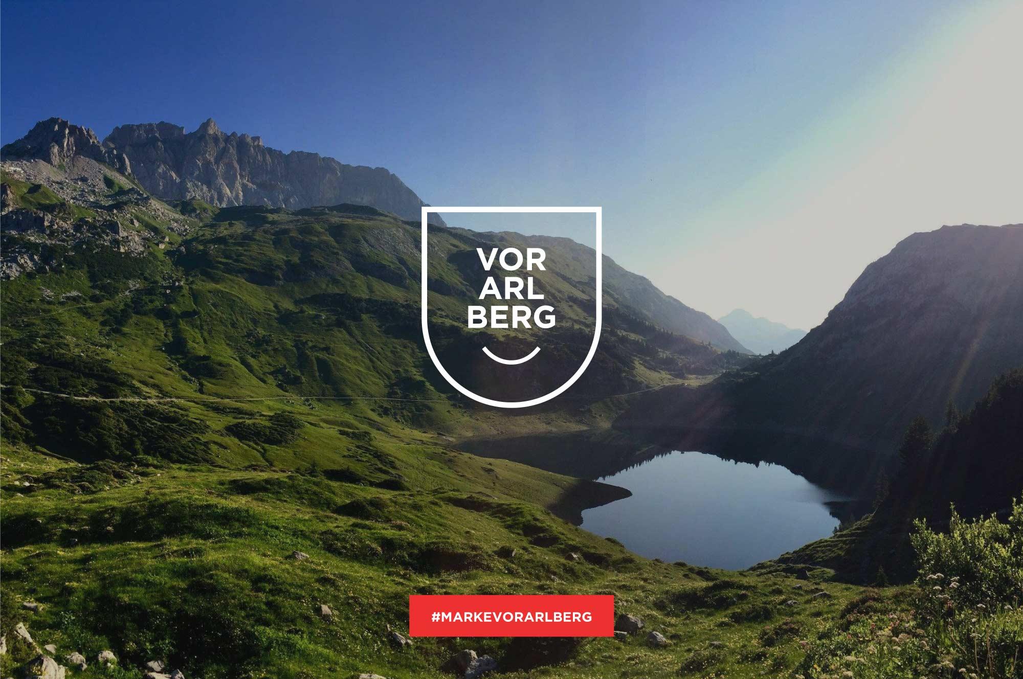 Marke Vorarlberg Logo auf Plakat