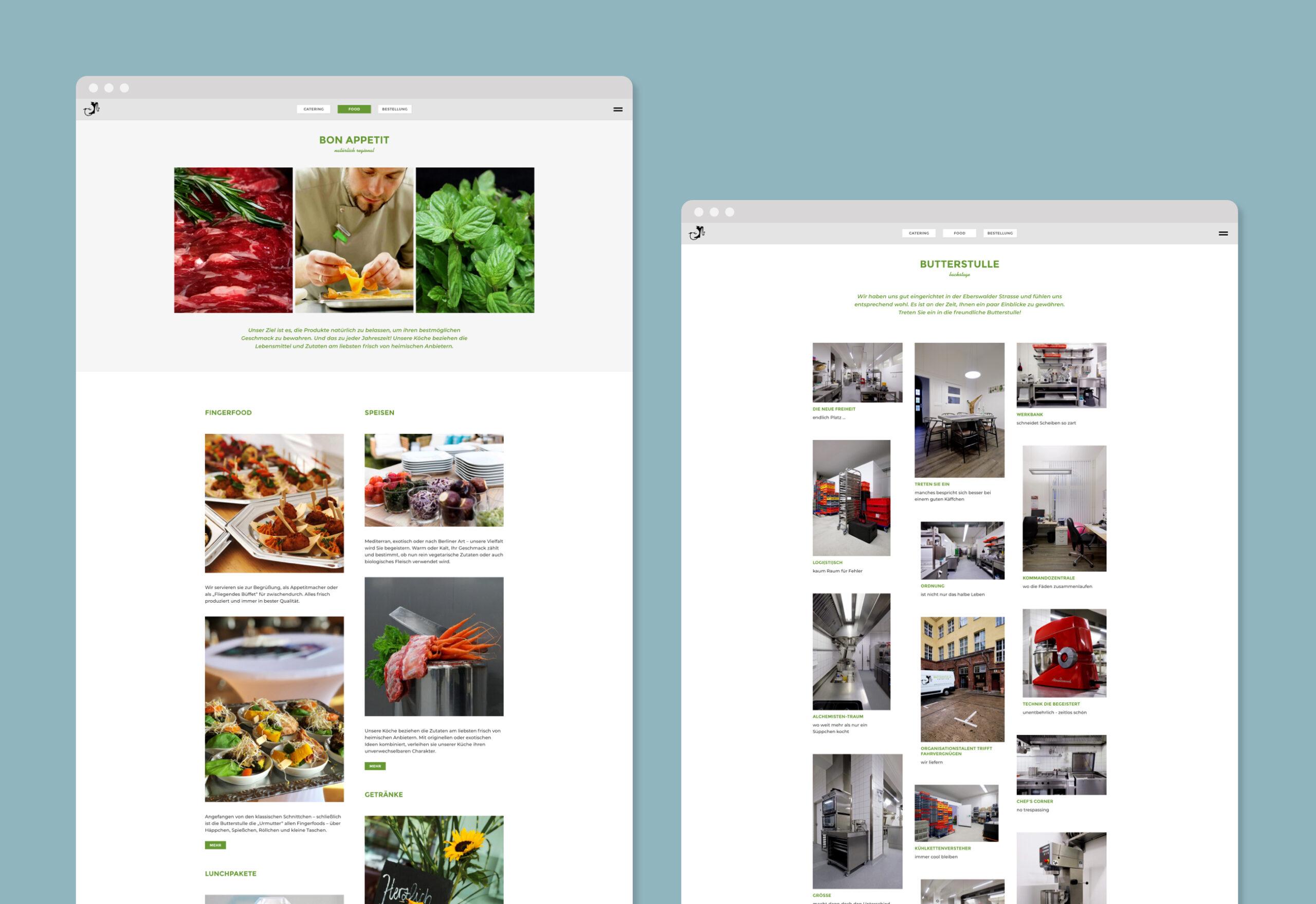 Butterstulle web design