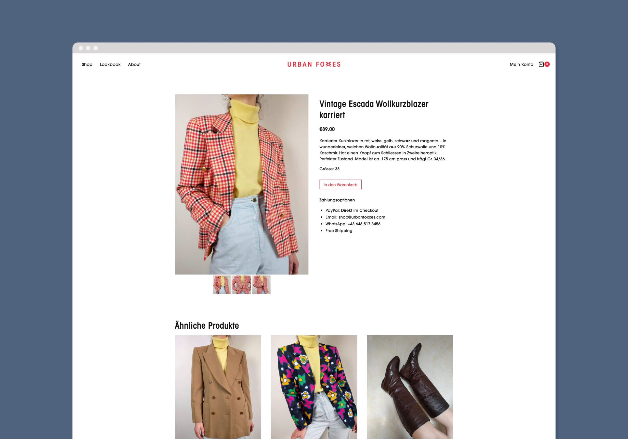 urban foxxes ecommerce webseite shop