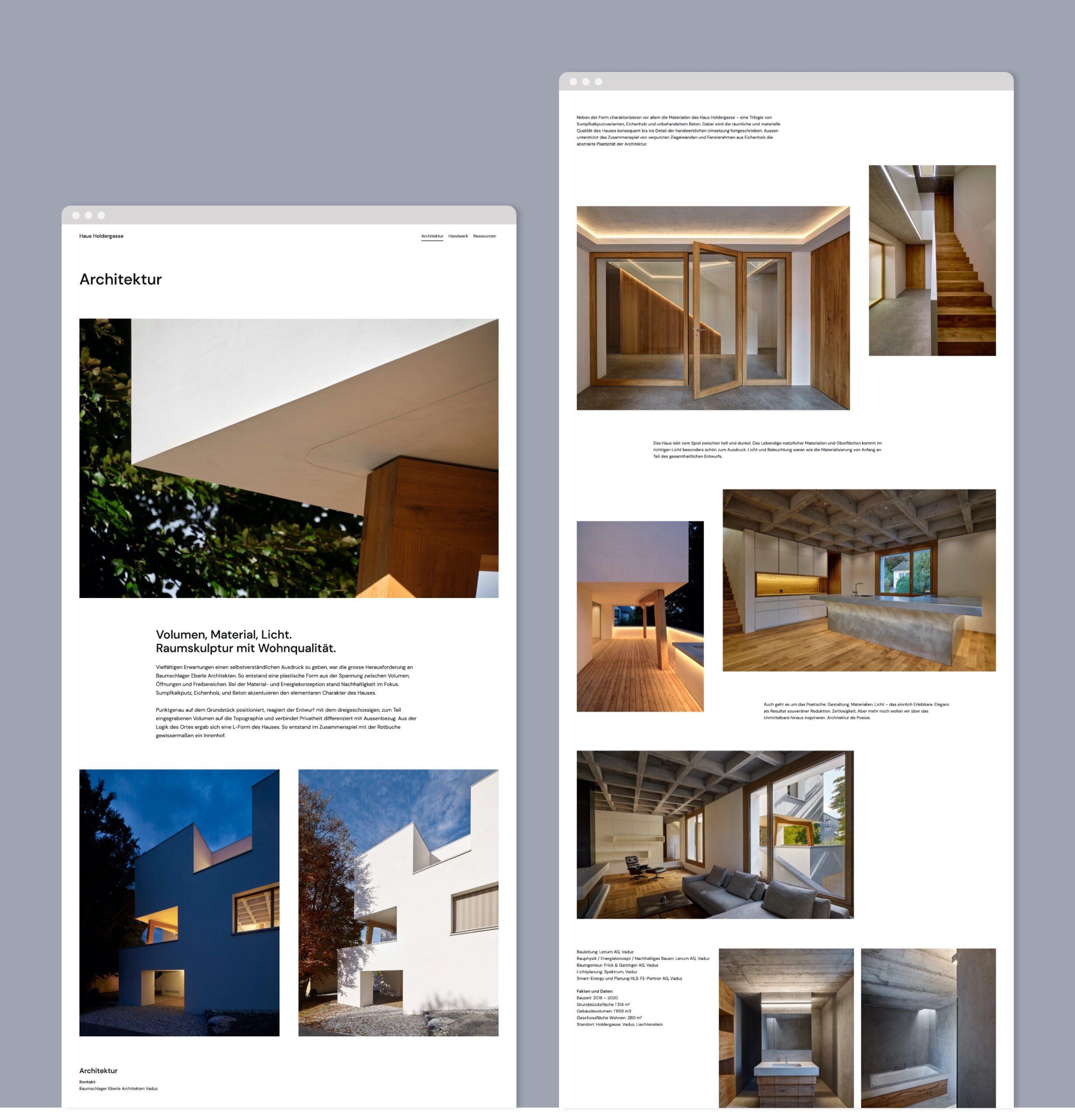 Haus Holdergasse Webseite Portfolio 2