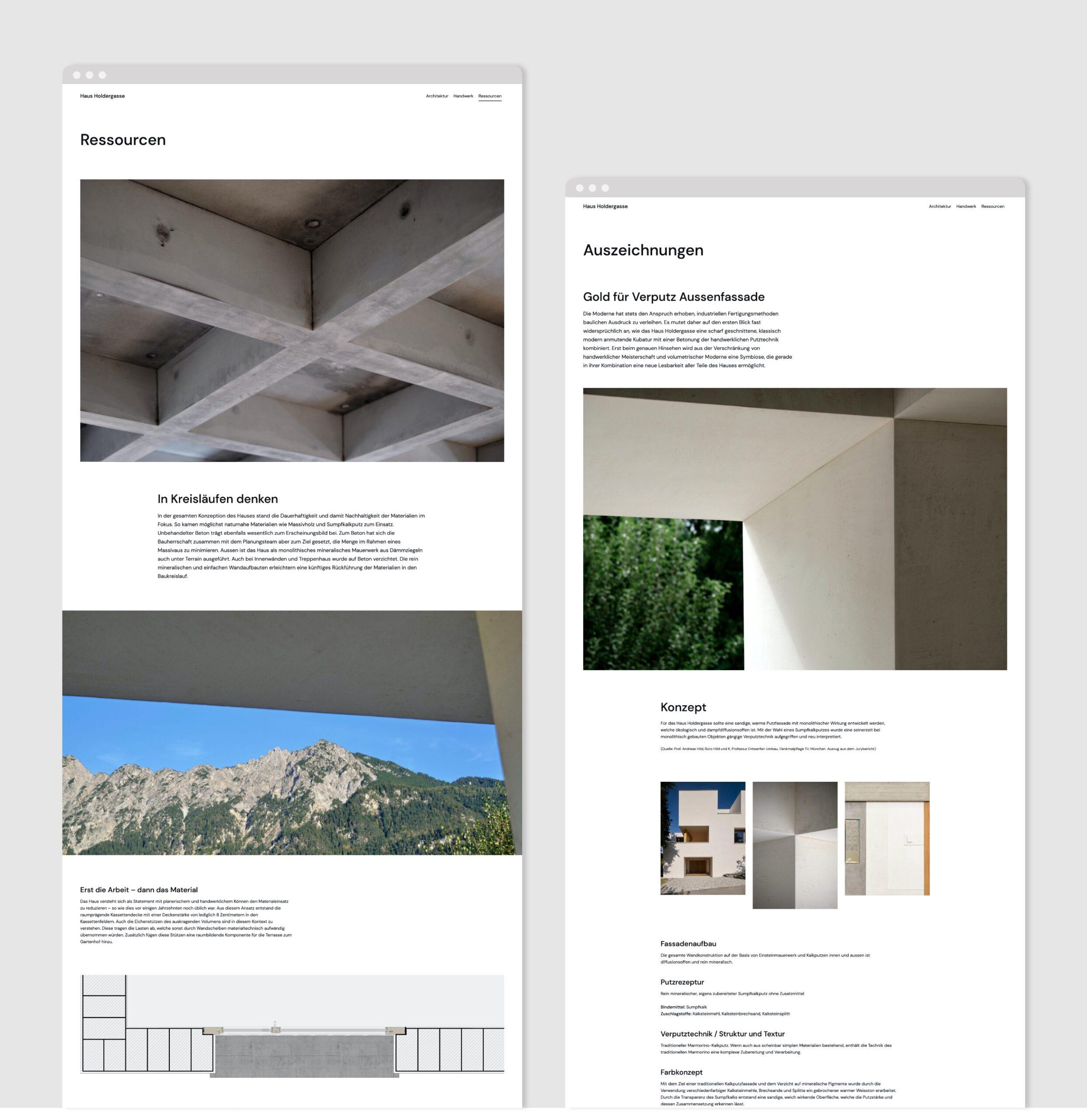 Haus Holdergasse Webseite Portfolio 4
